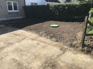 Soil in front garden